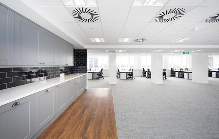, Lanview successfully handed over the Euston House 8th Floor office refurbishment project