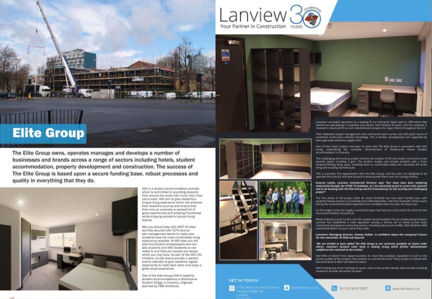 Construction Forum Magazine, Lanview featured in Construction Forum Magazine